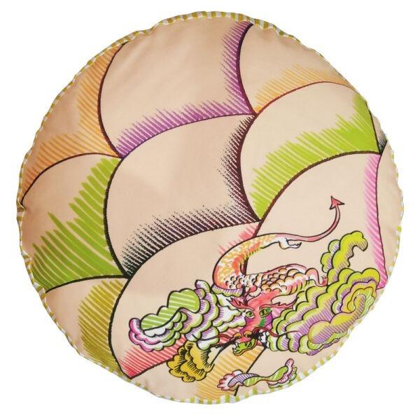 Възглавница за пода тип пуф с дракон